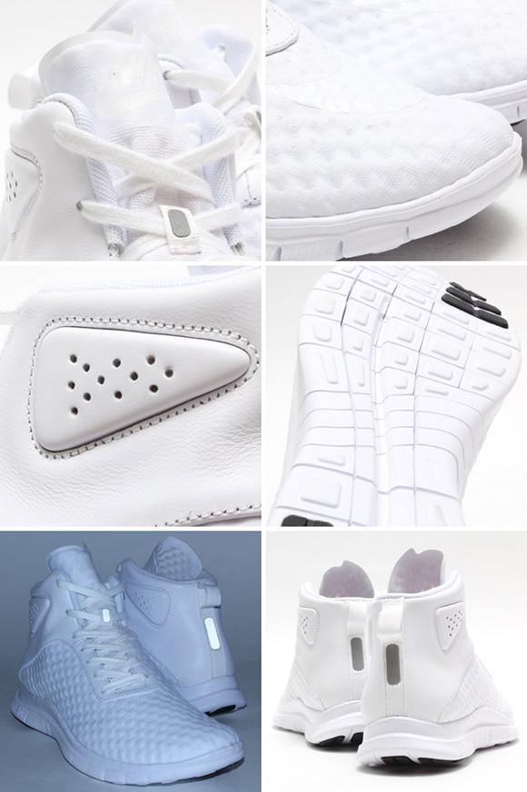 newest 91b79 8dc5f Nike Free Hypervenom Mid White Black