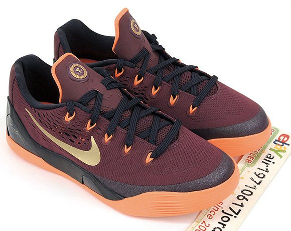 Nike Kobe 9 EM GS Lower Merion Aces Deep Garnet Metallic Gold