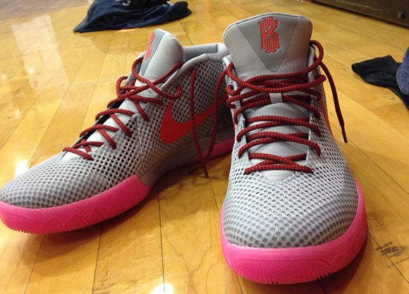 25867bf2802f Nike Kyrie 1 Grey   Pink Spotted