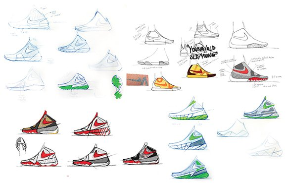 Nike Kyrie Irving 1 Sketches by Leo Chang