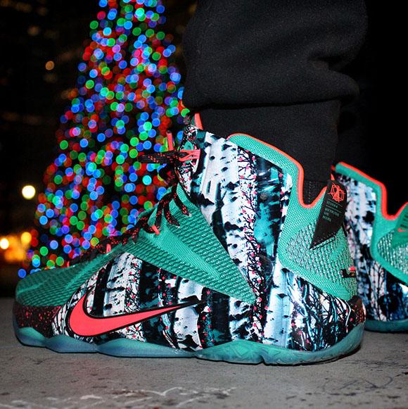 Nike LeBron 12 Akron Birch (Christmas)   SneakerFiles