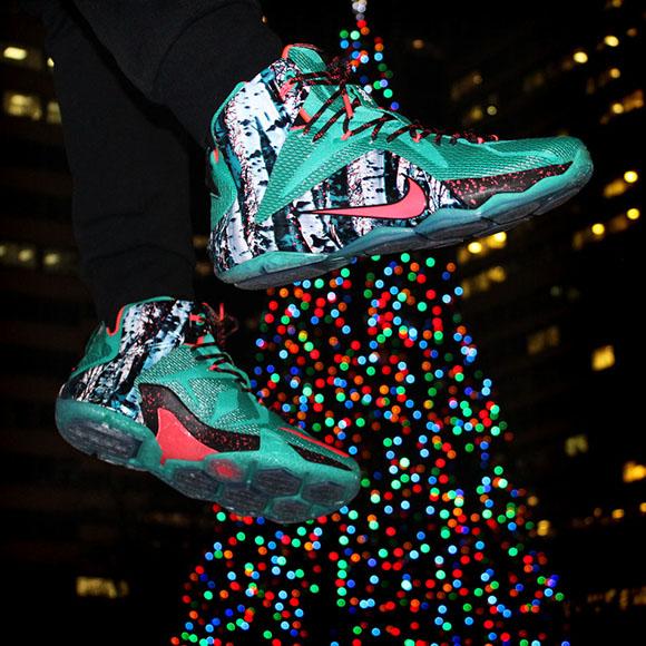 sale retailer 6a9bd 52372 Nike LeBron 12 Akron Birch (Christmas)