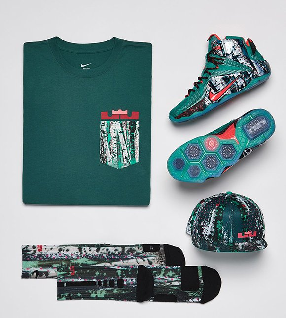 nike lebron 12 christmas matching clothing - Christmas Lebron 12