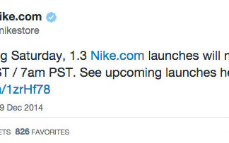 Nike Store Changes Saturday Launch Time