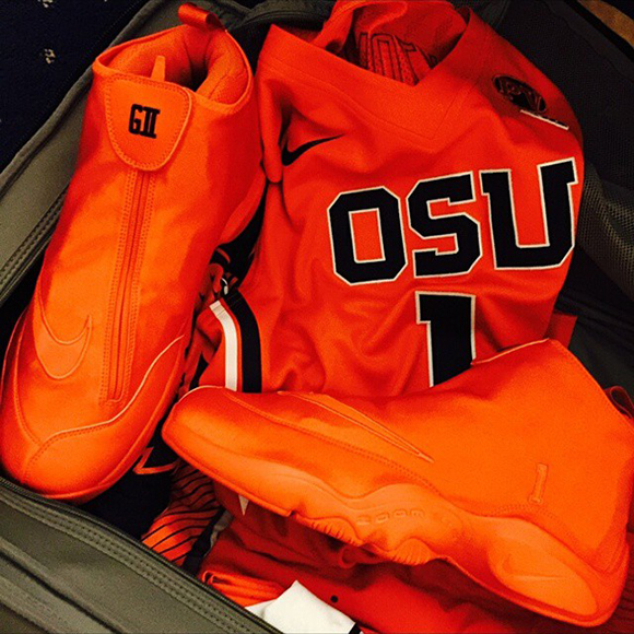 OSU Nike Zoom Flight the Glove for Gary Paytons Son