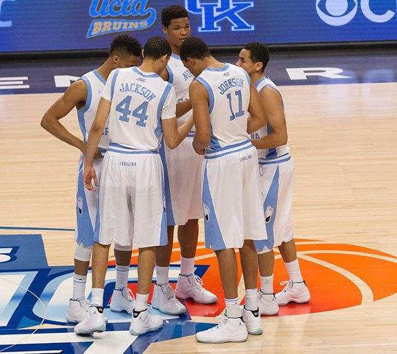 UNC Tar Heels Team Wears the Legend Blue Air Jordan 11  a55f6a207