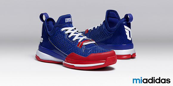 adidas D Lillard 1 Blue Red White