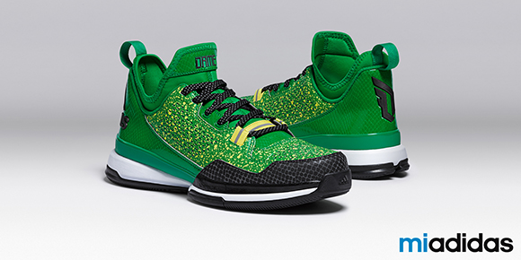 adidas D Lillard 1 Green Yellow Black