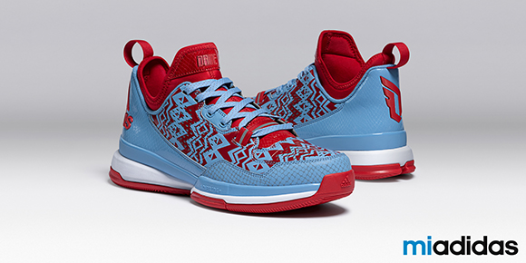 adidas D Lillard 1 Red Blue White