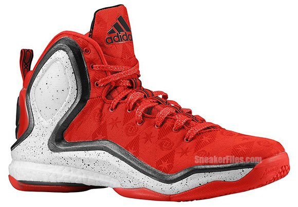 9c906a3e42 adidas D Rose 5 Boost Scarlet / Black - Bright Red | SneakerFiles