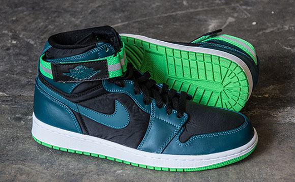 Air Jordan 1 High Strap Teal White Green Spark