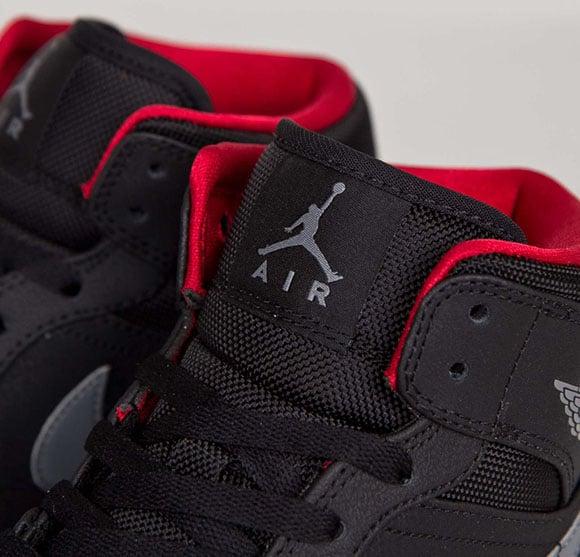 Air Jordan 1 Mid Cool Grey / Nero / Bianco yWd6LG14WE