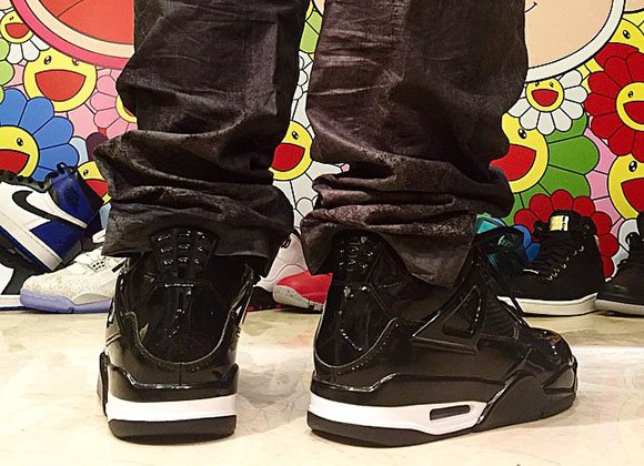 Air Jordan 11Lab4 Black White On Feet