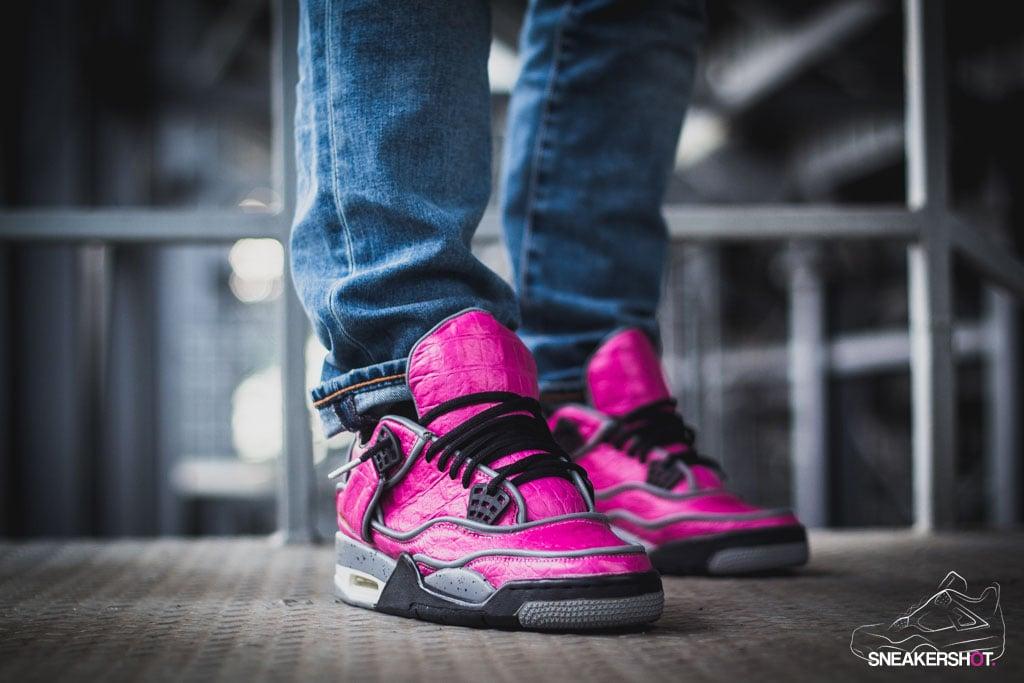 Air Jordan 4 Custom Pink Dinosaur by Maggi