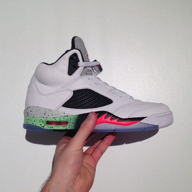 Air Jordan 5 Infrared Poison Green 2015