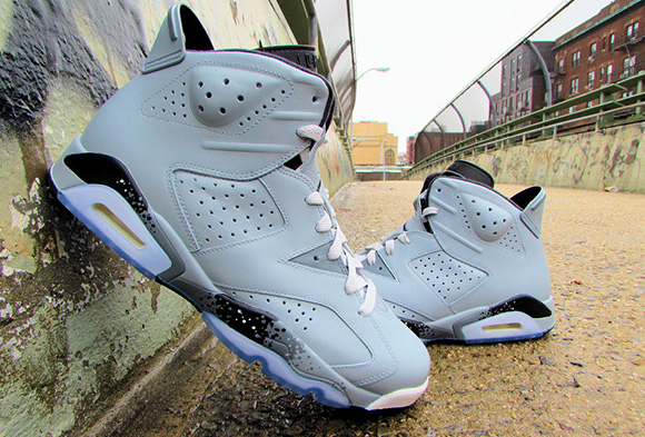 Air Jordan 6 Haze Grey Custom