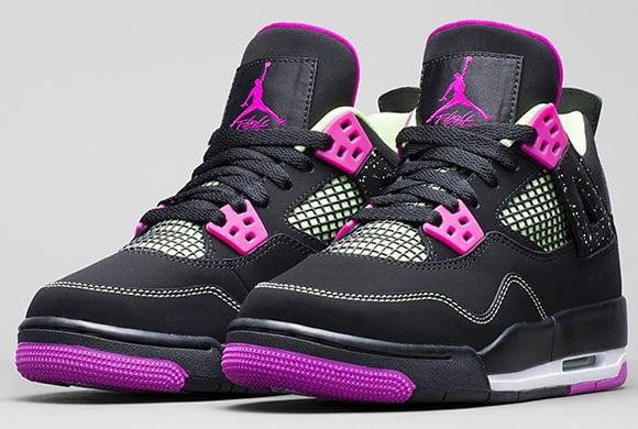 brand new b9b79 865da Air Jordan 4 Girls GS Fuchsia