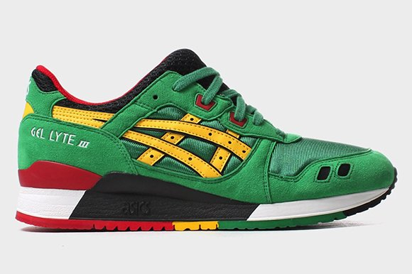 Asics Gel lyte III Green Yellow 2015