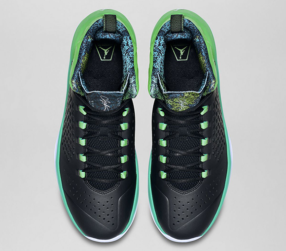 timeless design a2f3f 24141 Jordan Melo M11 Black Green Spark
