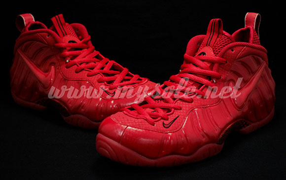 Nike Air Foamposite Pro Gym Red Detailed
