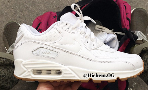 nike air max 90 white gum sole nmd