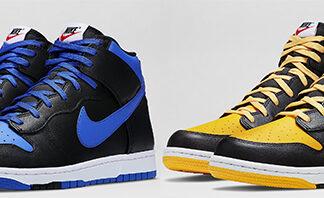Nike Dunk High CMFT Black Blue Black Gold Available