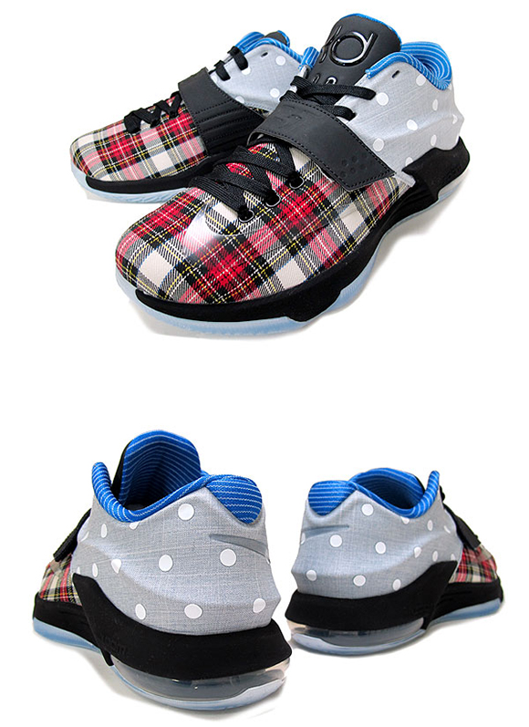 Nike KD 7 EXT Canvas Plaid and Polka Dots