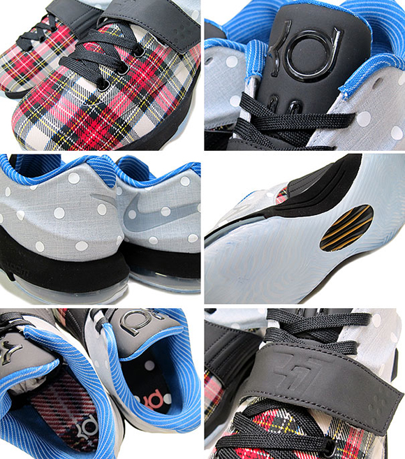 Nike KD 7 EXT Canvas Plaid and Polka Dots d8302375f7