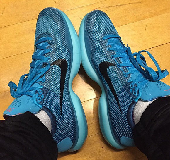 Nike Kobe 10 Blue Lagoon On Feet