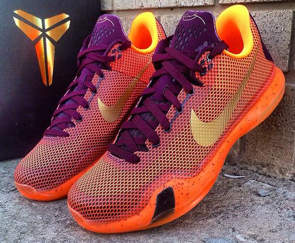 huge selection of 4cc87 57c2b Nike Kobe 10 Merlot Silk Road