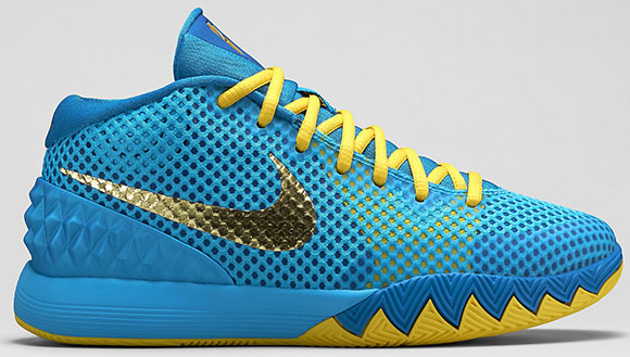 Nike Kyrie 1 GS Current Blue Metallic Gold Coin Available