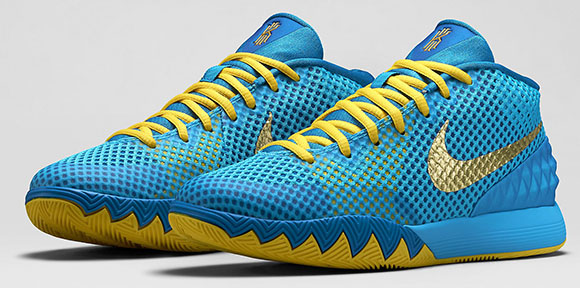 9df930f90b7b Nike Kyrie 1 GS Current Blue   Metallic Gold Coin Available ...