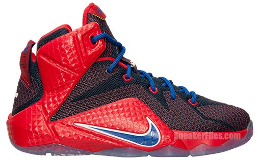 Nike LeBron 12 GS University Red Game Royal Midnight Navy