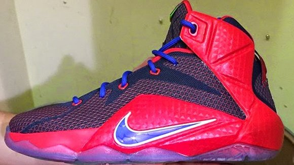 Nike LeBron 12 in Red Blue Navy