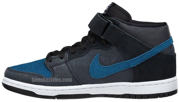 Nike SB Dunk Mid Black Blue Force White