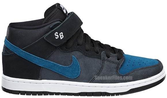 Nike SB Dunk Mid Black Blue Force White