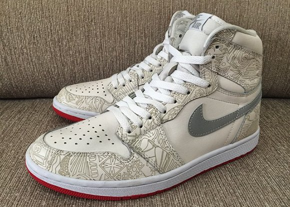 newest 6896b 1aff5 Air Jordan 1 Retro High OG Laser Red Sole Sample