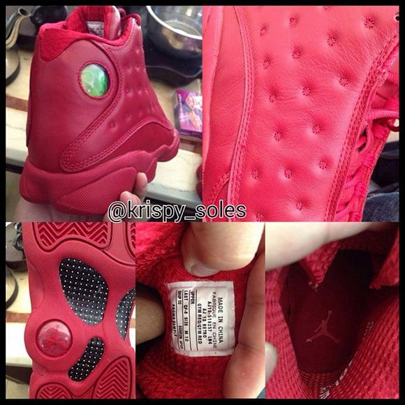 Air Jordan 13 Red October Gym Red Sample