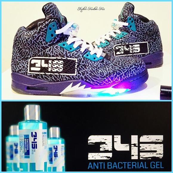 Air Jordan 5 3LabDB5 Aqua Custom
