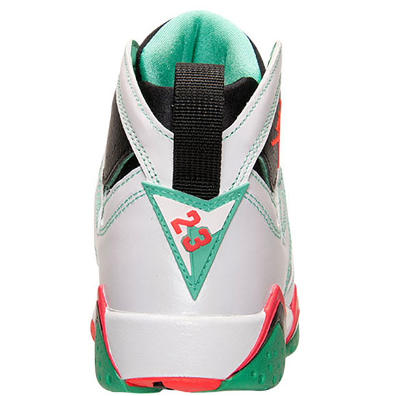 Air Jordan 7 Girls GS White Infrared Black Verde