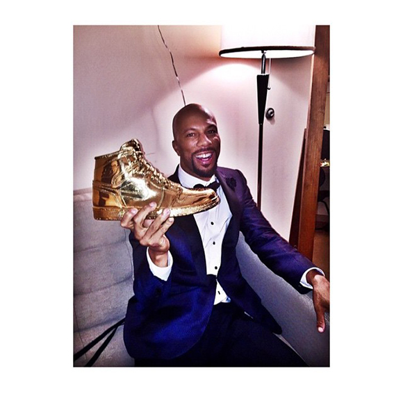 Gold Air Jordan 1 Art for Common Oscars
