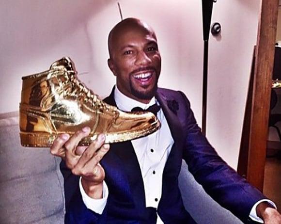 Gold Air Jordan 1 Art for Common Oscars