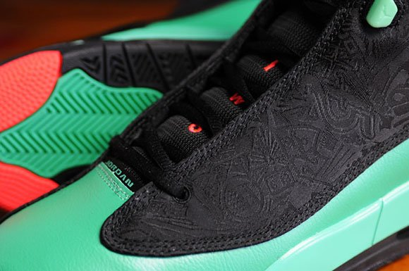 Jordan Dub Zero Kids GS Black Infrared 23 Verde