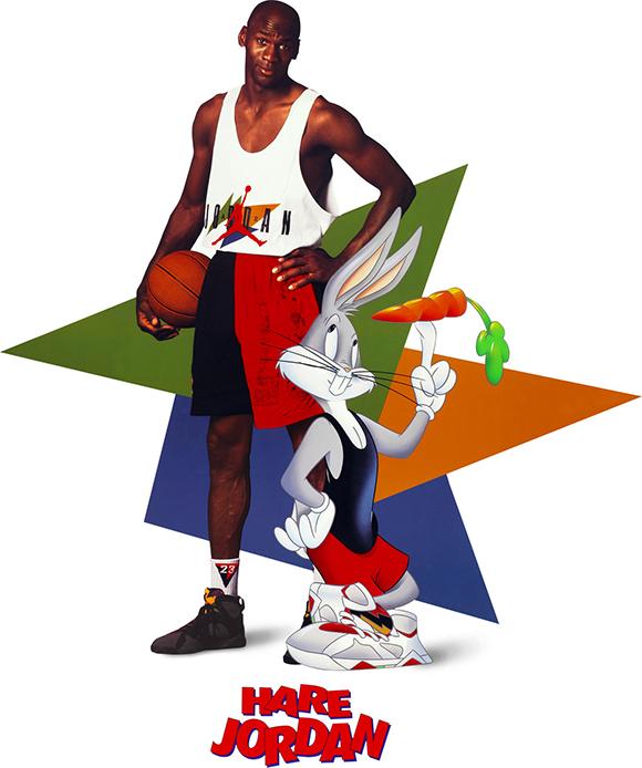 Michael Jordan and Bugs Bunny Connect