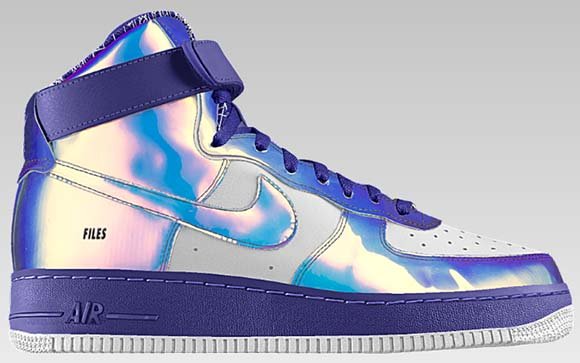 watch 6db97 49137 Nike Air Force 1 High Iridescent NikeiD