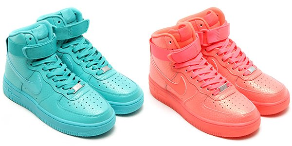 colorful nike air force ones
