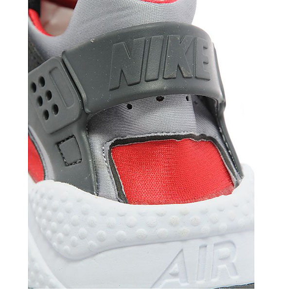 Nike Air Huarache Black   Wolf Grey - Red  f260d17f13