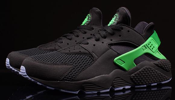 Nike Air Huarache FB Black Poison Green