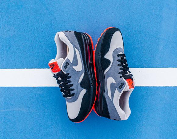 Nike Air Max 1 Leather Granite Dark Grey Black