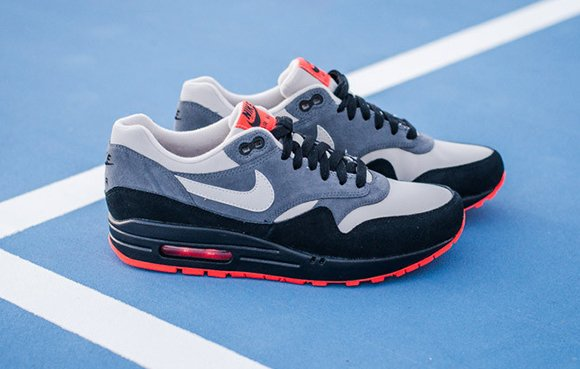 Leather Grey Air Max Granite Black 1 Dark Nike H2IDWE9